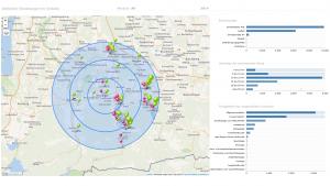 KIMdata-chefreporter, Geo-Analyse - hier stationäre Einweisungen